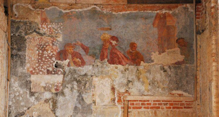 Sapiegu rūmai freska vakarienė