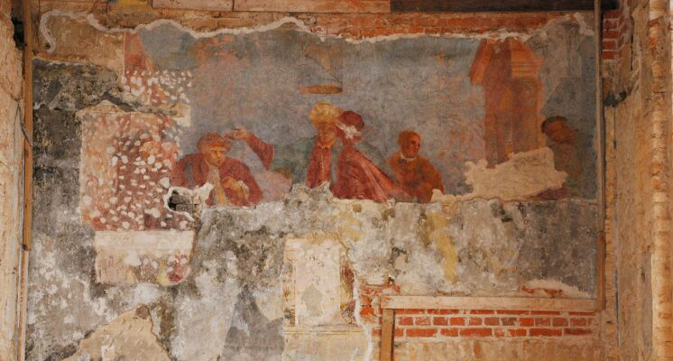 Sapiegu rumu freska vakariene