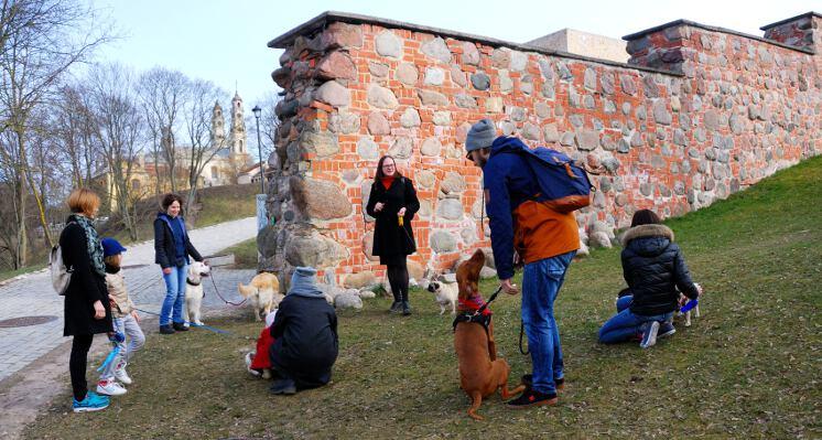 Prie Vilniaus barbakano  ekskursija su sunimi