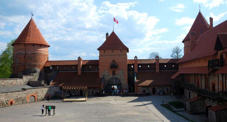 Trakai pilis vidus inside of the castle