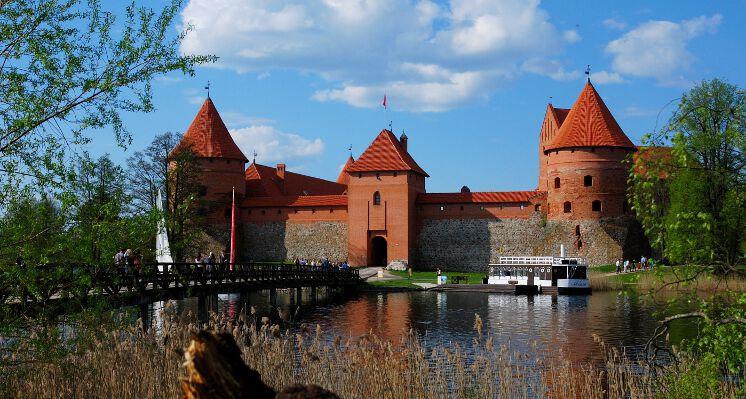 Traku salos pilis medziai castle