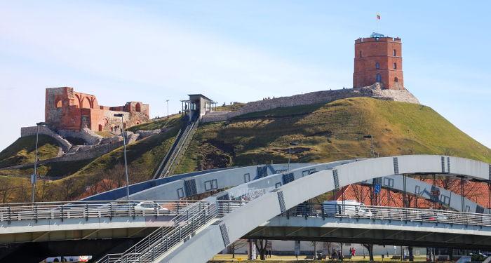Gedimono kalnas nuo Mindaugo tilto