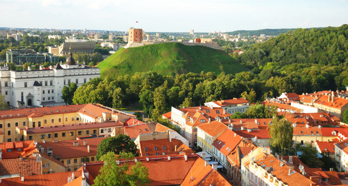 Vilniaus senamiescio panorama