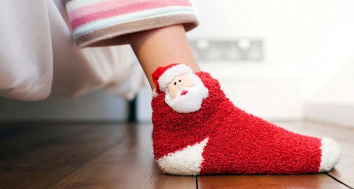 Kalėdinės kojinės su seniu šalčiu